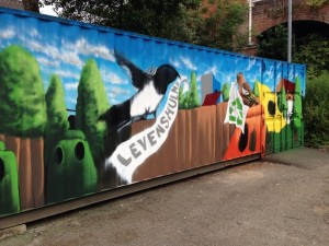 market container mural